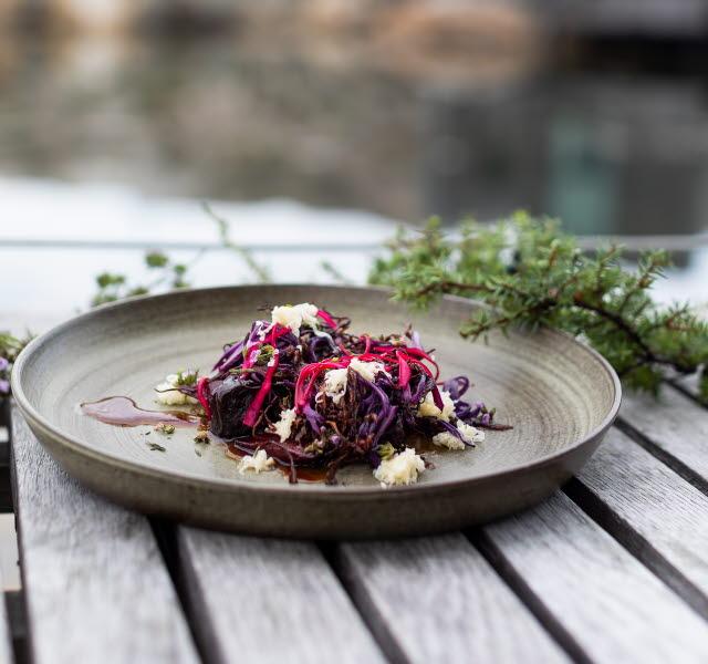 Plate from Restaurant Vatten in Skärhamn
