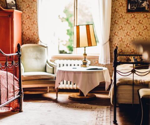 Rum på Villa Sjötorp