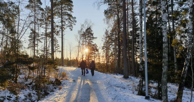 Gässlösa friluftsområde, Borås. 6,7km spåret