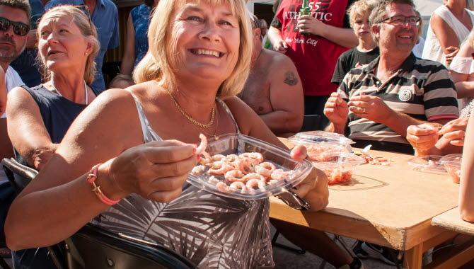 Ulla Svensson – Årets Räkskalardrottning 2018 Kanalfesten Grundsund Skaftö