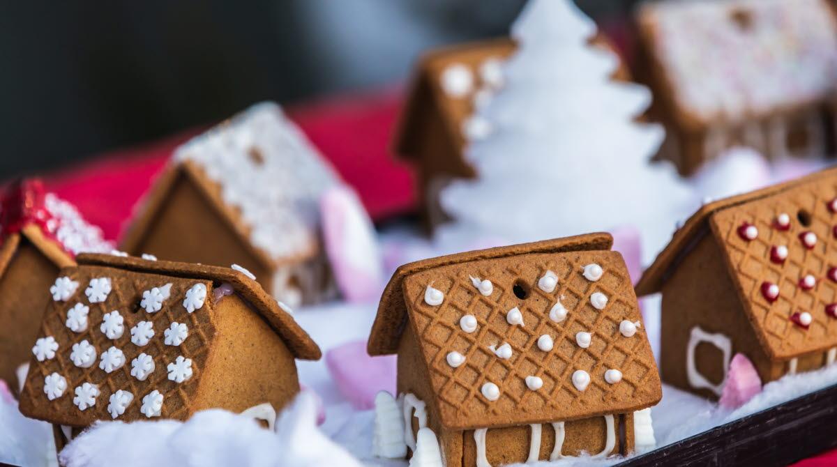 pepparkakshus på julstämning i Tibro