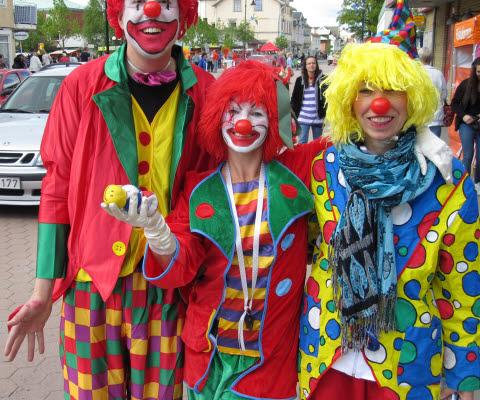 Clowner, Vårglädjedagen, Herrljunga Köpmannaförening