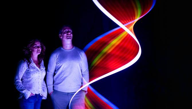 island of Light- en ljusfestival under september måndad på Smögen