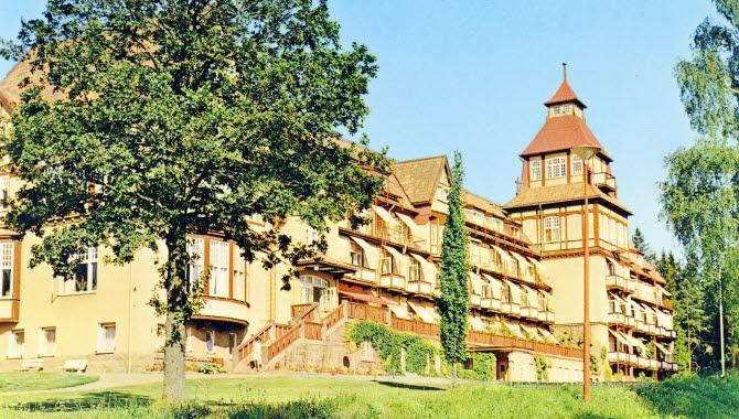 Det vackra pampiga Kurhotellet som fanns i Ulricehamn fram till 1981