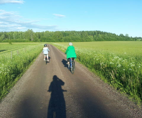 Cykla på landsbygd