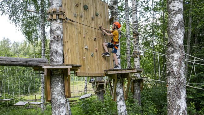 Adventure track at Dalslandsaktiviteter.