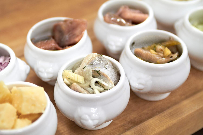 Bowls with herring - Photo Cred Jonas Ingman