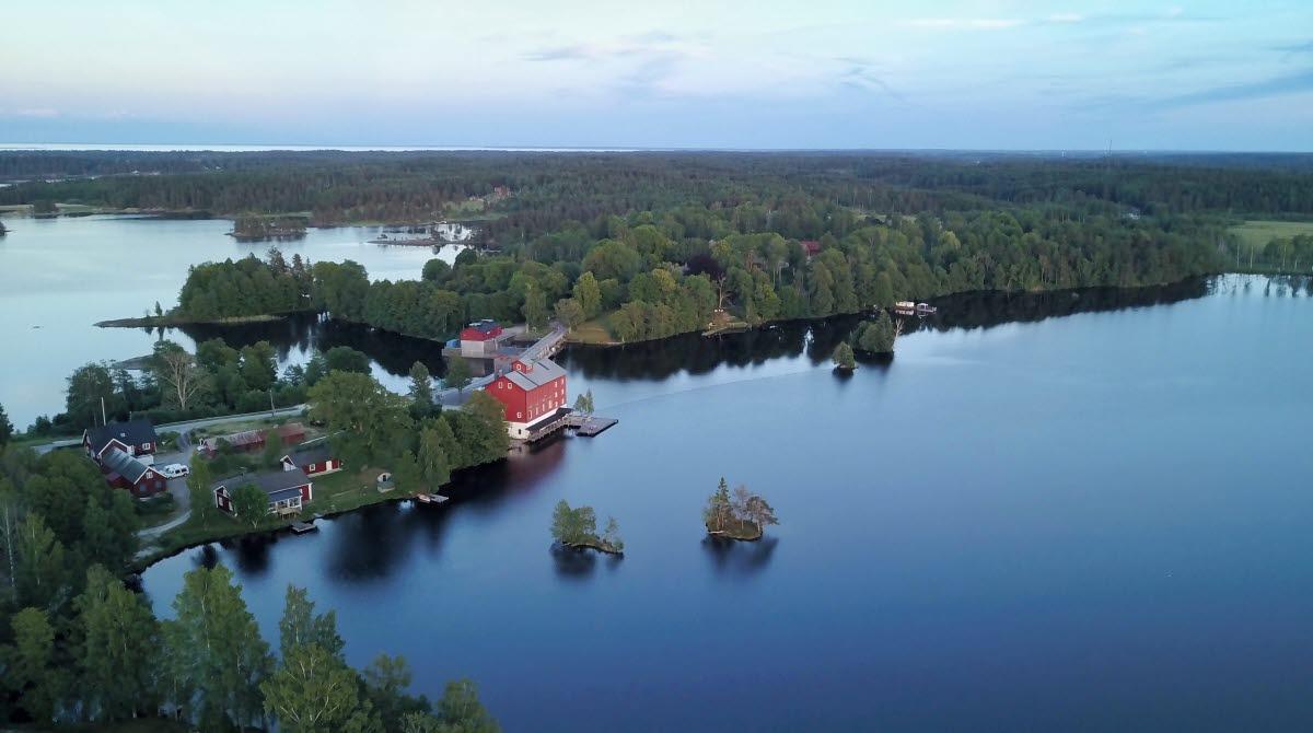 Flygbild över Upperud 9:9 i Dalsland