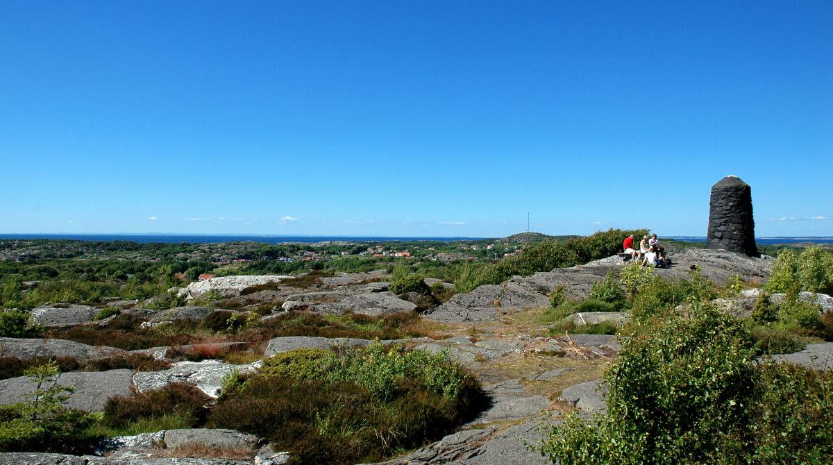 Utsikt från Valfjäll, högsta punkten på Sydkoster