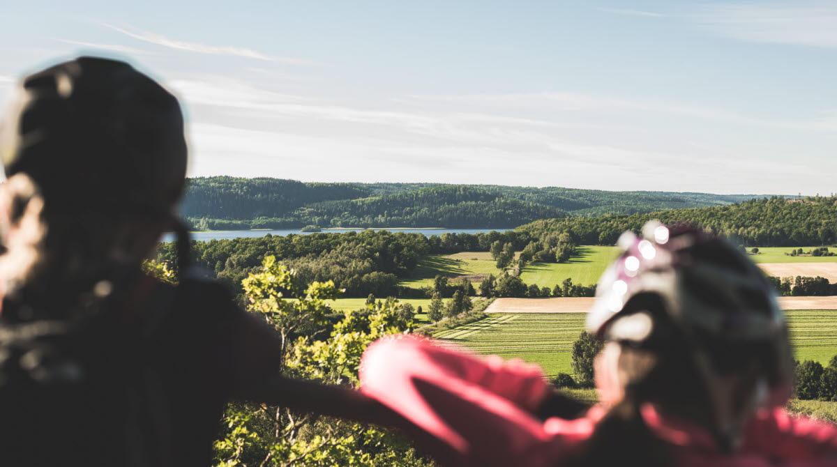 Välkommen till Ulricehamn för en kvalitetssäkrad upplevelse på mountainbike! På bild ser du naturreservatet Korpebobergs lösvskogar.