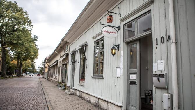 Gatuvy i Lidköping
