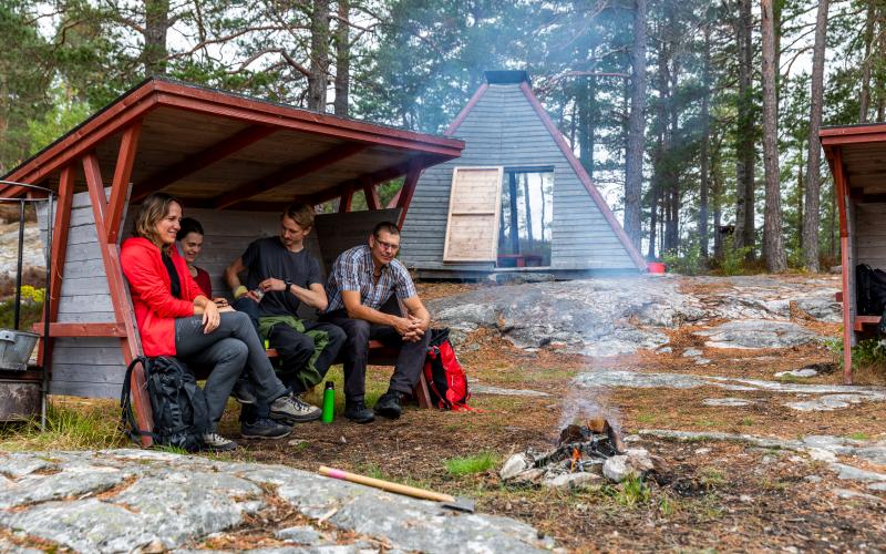Lägerplats vid Pilgrimsleden i Dalsland