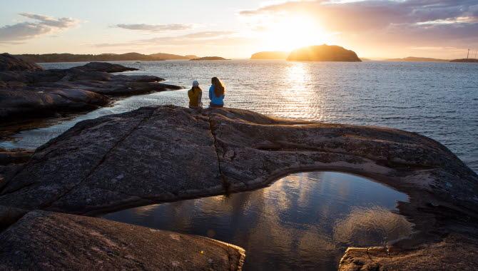 Solnedgång på ö
