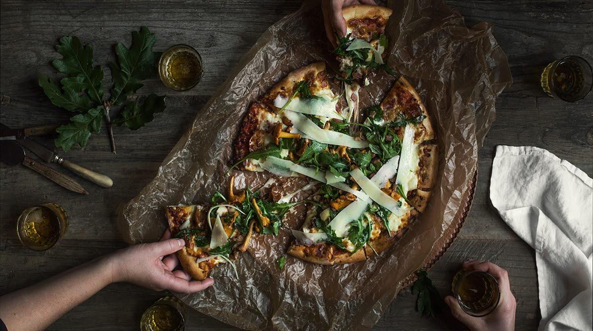 Bild på Pizza som vi hade förra året på skördefesten