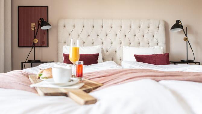 Frukost på sängen.