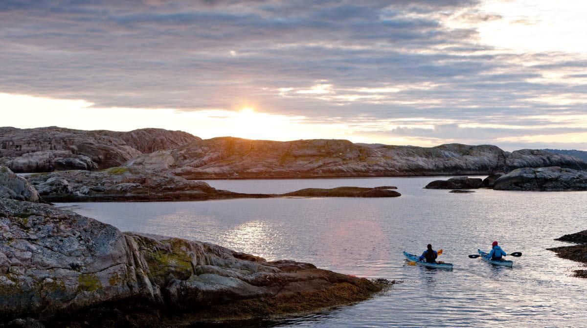 Kajak längst Bohusläns kust