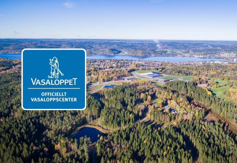 Vybild över naturen på Lassalyckan i Ulricehamn
