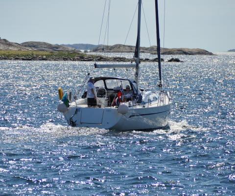 Segelbåt i Kosterhavet nationapark