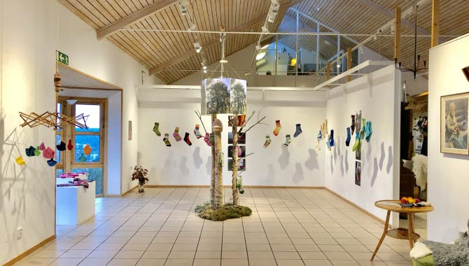 Utställningar i Halmens hus