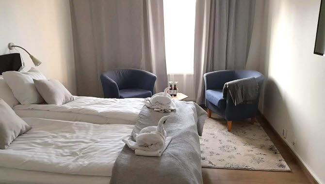 Hotellrum på Hotell Wettern.