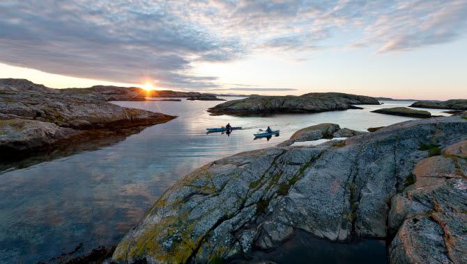 Kayak in the archipelago of Bohuslän