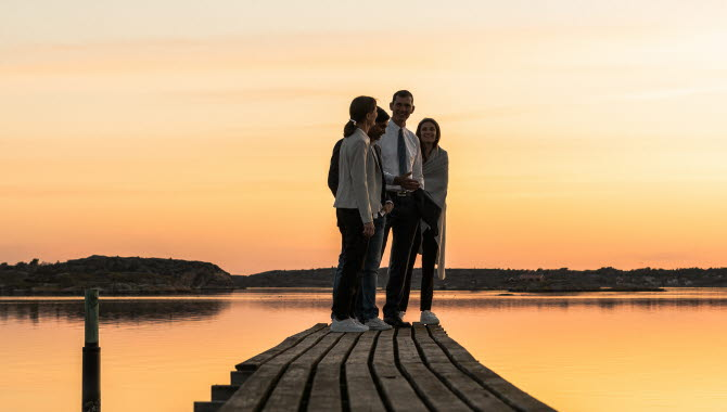 Solnedgång på TanumStrand.