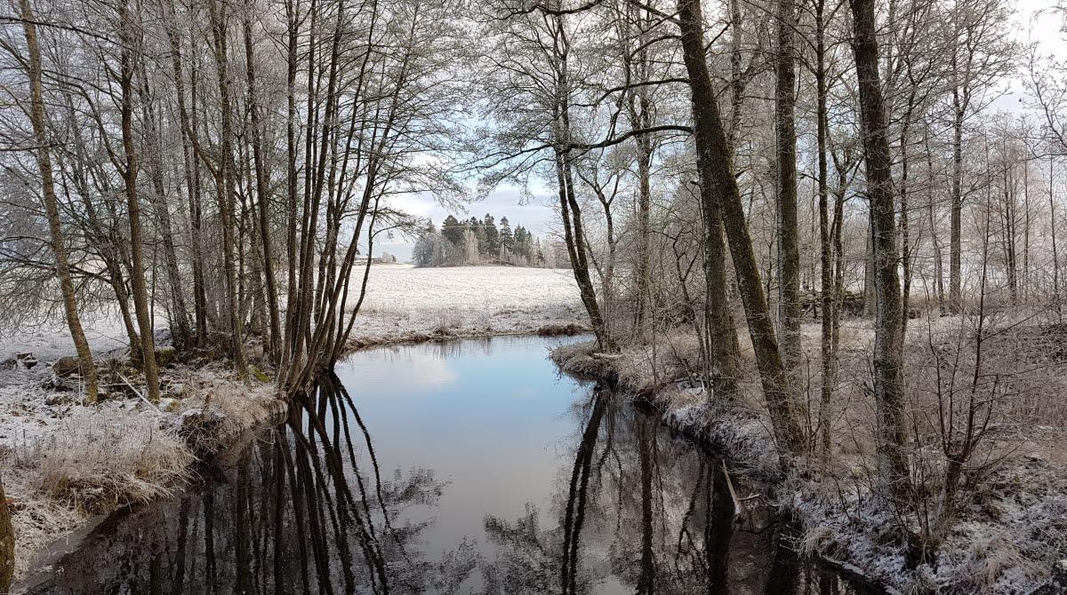 Nossan Fölene Bro vinterlandskap