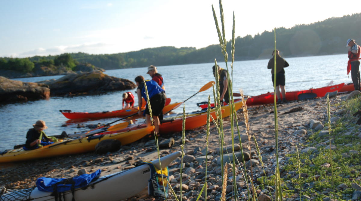 Photo of kayaking in the summer.