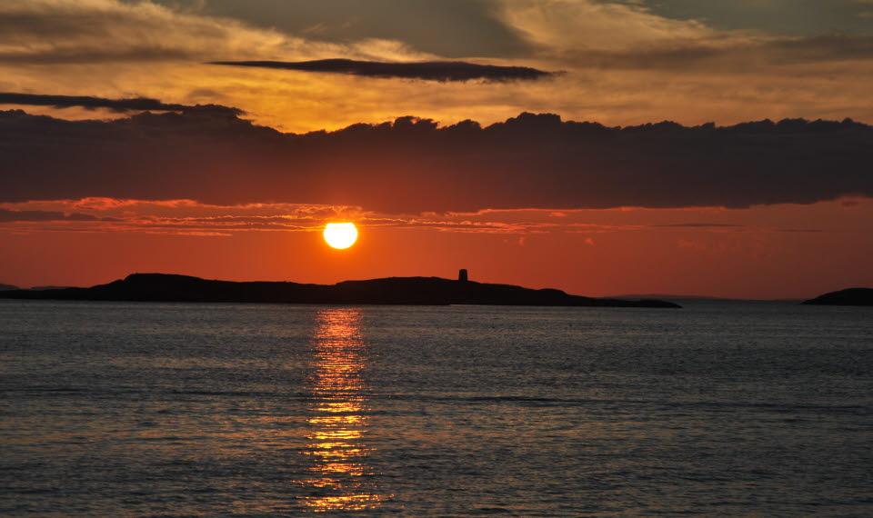 Solnedgång över Kosterhavet
