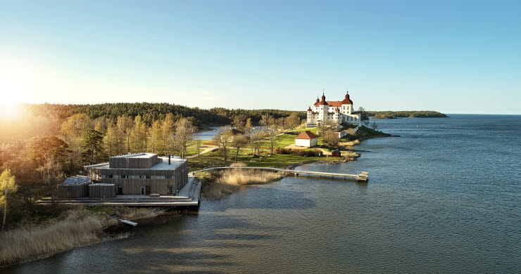 view over Läckö Castle