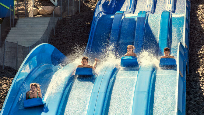 Waterslide at Skara Sommarland.