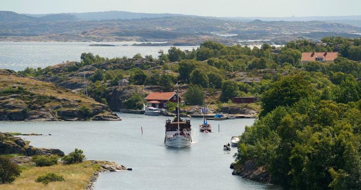 Passagerarbåt i Bohusläns skärgård
