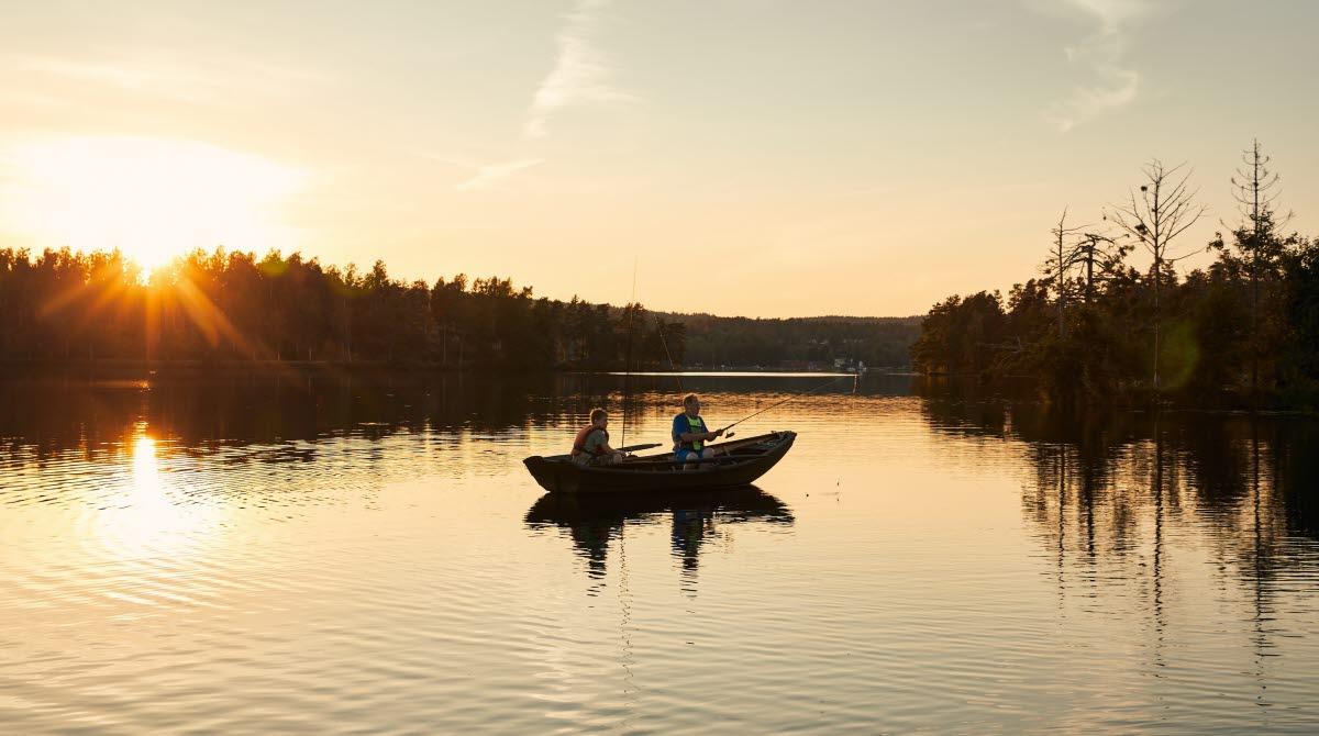 Fiske på Dalslands kanal.