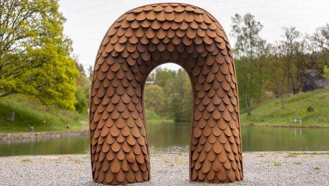 Skulpturen Portal i Trollhättan