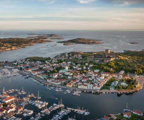 Flygvy över Marstrand